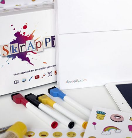 skrappify kit | paper scrapbook that connects to your tablet | by Magikbee